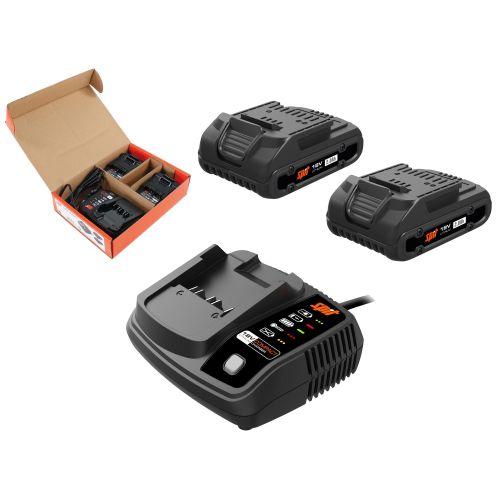 Pack énergie Spit 2 batteries 18 V - 2 Ah + chargeur photo du produit Secondaire 1 L
