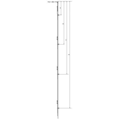 Verrouillage latéral/vertical d'oscillo-battant SE HFF 1101-1350 - FERCO - 6-32008-07-0-1 pas cher Secondaire 1 L