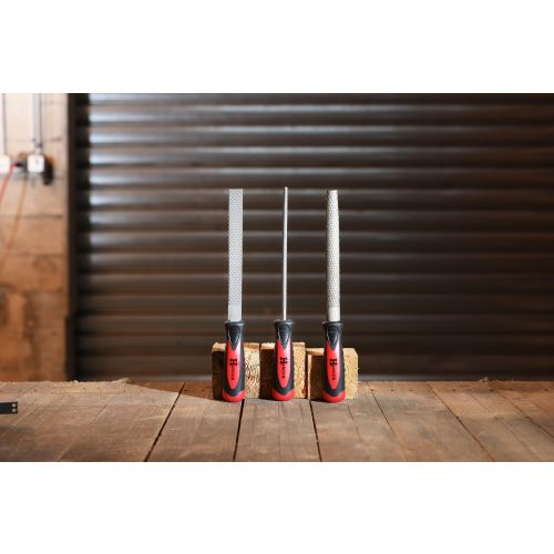 Set de 3 râpes à bois emmanchées grosses piqures 200 mm - HANGER - 110391 pas cher Secondaire 1 L