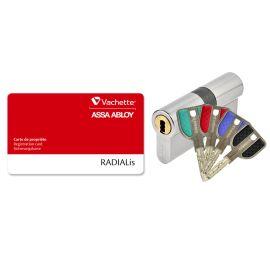 Cylindre 32,5x32,5 mm Radialis A2P2* livré avec 4 clés - VACHETTE - 27482000 pas cher Principale M