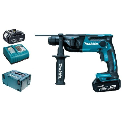 Perforateur SDS-Plus 18 V Makita DHR165RMJ + 2 batteries BL1840 + Chargeur DC18RC + coffret MAKPAC 3 photo du produit