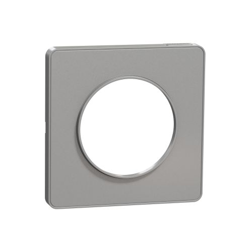 Plaque ODACE TOUCH alu 1 poste - SCHNEIDER ELECTRIC - S530802 pas cher Principale L