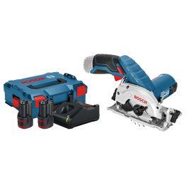 Scie circulaire sans-fil Bosch GKS 12V-26 12 V + 2 batteries 3 Ah + chargeur + coffret L-BOXX pas cher Principale M