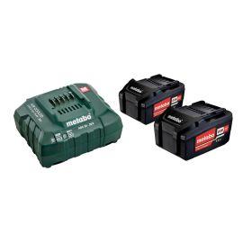 Set de base 2 batteries Metabo Li-Ion 18 V 4 Ah + chargeur ASC 55 photo du produit