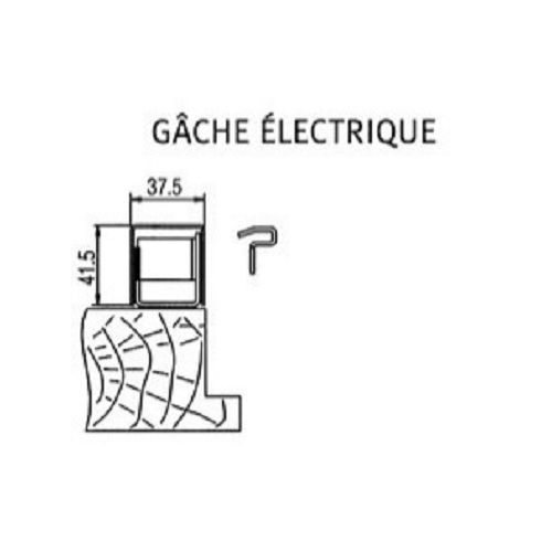 Gâche électrique pour carénée SESAME 1 photo du produit
