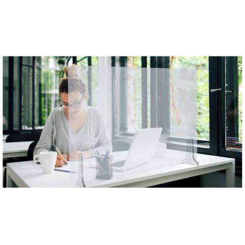 Ecran de protection en plexiglass avec pieds 1000x600x4mm - HERACLES - PLEXI-100 pas cher Secondaire 1 L