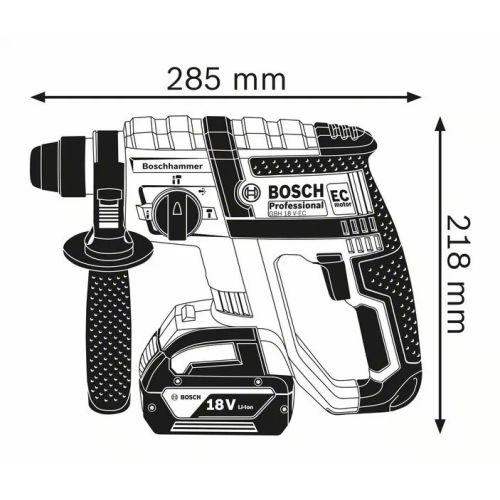 Perforateur SDS-Plus sans-fil GBH 18 V-EC 18 V (machine seule) en coffret L-Boxx - BOSCH - 0611904003 pas cher Secondaire 1 L