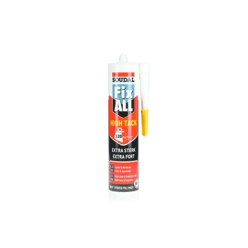 Mastic colle Fix All High Tack beigecartouche 290 ml - SOUDAL - 100271 pas cher Secondaire 8 L