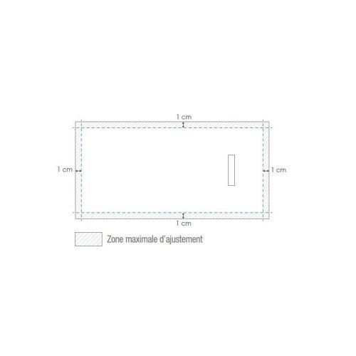Receveur de douche recoupable 100X80 cm KINEDO KINEROCK Blanc bonde petit côté pas cher Secondaire 1 L