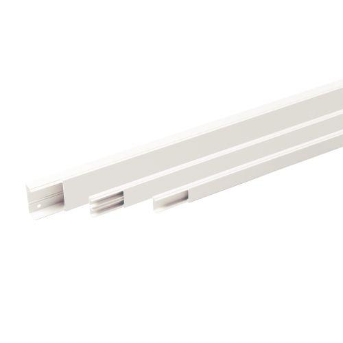 Moulure blanche MS 40X10mm avec cloison 2M - REHAU - 727316 pas cher