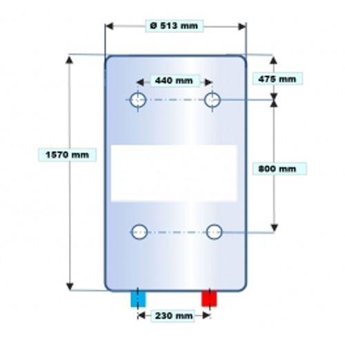 Chauffe-eau électrique vertical blindé photo du produit Secondaire 2 L