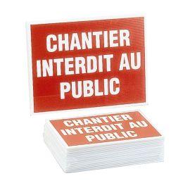"""Panneau éco """"Chantier interdit public"""" photo du produit"""