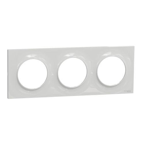 Plaque STYL grise ODACE 3 postes horizontal/vertical entraxe 71 mm - SCHNEIDER ELECTRIC - S520706A1 pas cher Principale L