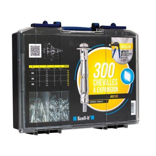 Coffret 300 chevilles à expansion Scell-it avec vis photo du produit
