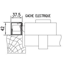 Gâche électrique pour carénée SESAME 1 photo du produit Principale M