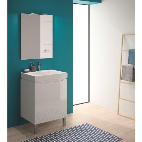 Ensemble meuble salle de bain avec vasque céramique blanc photo du produit Secondaire 3 L