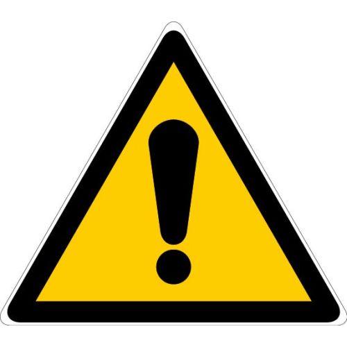 Pictogrammes triangulaires d'avertissement de danger photo du produit