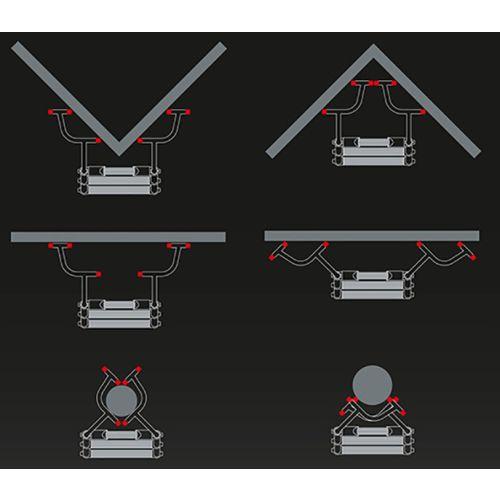 Top support écarteur Telesteps pour échelle télescopique photo du produit Secondaire 7 L