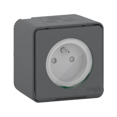 Prise de courant Mureva styl modèle 2P+T simple couleur gris - SCHNEIDER - SHN0212454 pas cher Principale L