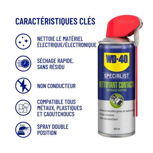 Nettoyant contact séchage rapide aérosol 400 ml - WD-40 SPECIALIST - 33368 pas cher Secondaire 1 L