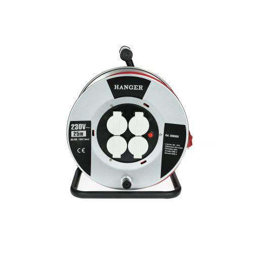 Enrouleur électrique 40 m section 3G 2,5 mm² acier H07RN-F - HANGER - 600010 pas cher