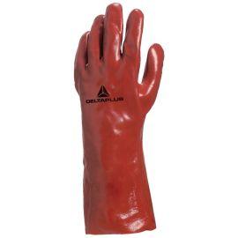 Gants enduit rouge PVC 73 (35) pas cher