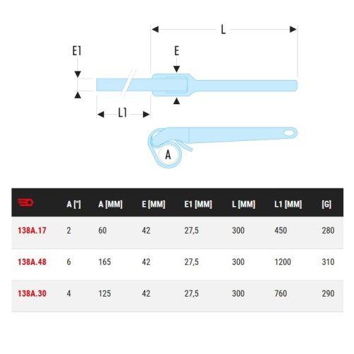 Clé sangle nylon 6'' capacité 152 mm - FACOM - 138A.48 pas cher Secondaire 1 L