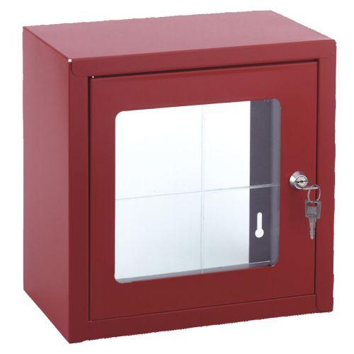 Boîte sous verre dormant en tôle acier laquée 450 x 450 - WATTS - L0790033 pas cher Principale L