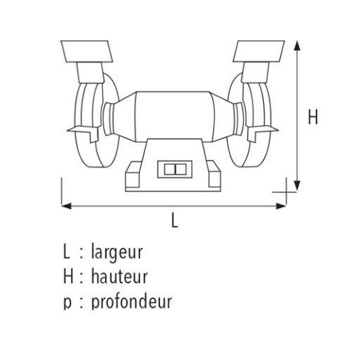 Touret à meuler mono TM150 - SIDAMO - 20113101 pas cher Secondaire 1 L