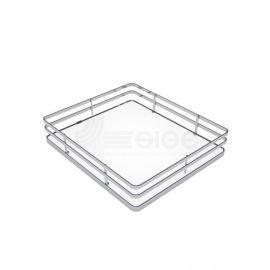 Panier fil chromé fond mélaminé blanc pour armoire coulissante pas cher