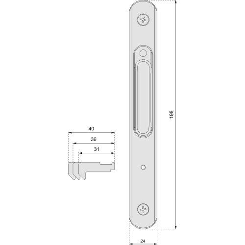 Fermeture simple à crochet SILENE photo du produit Secondaire 3 L
