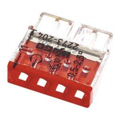 Bornes 4 entrées (0.5-2.5mm) OR boite de 100 pièces - WAGO - 2273-204 pas cher Principale L