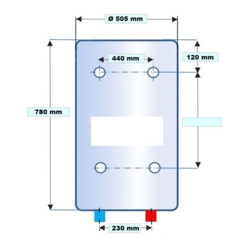Chauffe-eau électrique vertical blindé photo du produit Secondaire 4 L