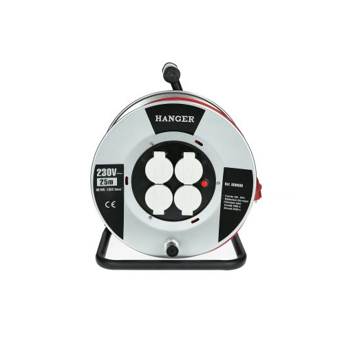 Enrouleur électrique flasque acier 25 m H07RN-F 3G 2,5 mm² - HANGER - 600009 pas cher