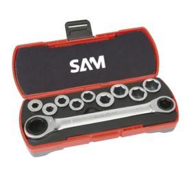 Coffret clés à cliquet 12 pièces Sam Outillage CP-12Z photo du produit Principale M
