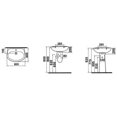 Lavabo gamme Vitra Normus photo du produit Secondaire 5 L