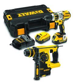 Pack 2 outils sans fil Dewalt (DCD996 + DCH273) 18 V + 2 batteries 5 Ah + chargeur + coffret Tstak photo du produit