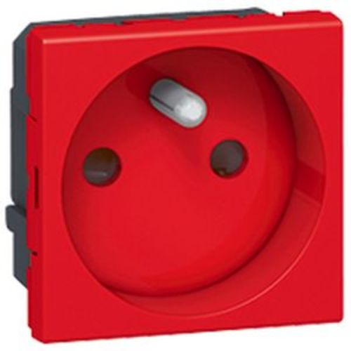 Prise électrique MOSAIC 2P+T droite 2 modules (rouge) - LEGRAND - 077118 pas cher Principale L