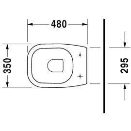 Cuvette sortie horizontale 48 cm D-Code DURAVIT photo du produit