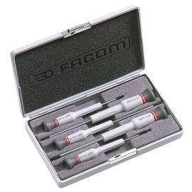 Coffret de 5 tournevis Facom micro-tech Fente / Phillips AEF.J1 photo du produit