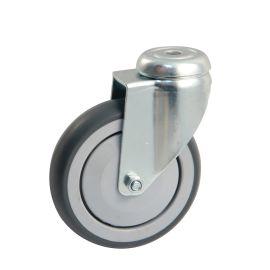 Roulettes ameublement caoutchouc grise à pare-fils polyamide à oeil pas cher