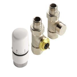 "Kit robinetterie thermostatique Acova blanc 1/2"" pas cher"