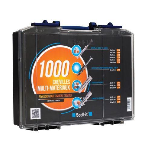 Coffret 1000 chevilles Scell-it spéciales fixation légères photo du produit