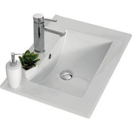 Plan vasque céramique blanc 60 cm ANGELO photo du produit Principale M