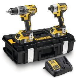 Pack 2 outils 18 V Dewalt DCK266P2T (DCD796+DCF887) + 2 batteries 5 Ah + T-Stak pas cher
