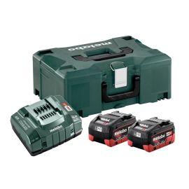 Set de base 2 batteries Metabo LiHD 18 V - 5,5 Ah + chargeur ASC 145 + coffret METABOX 145 photo du produit