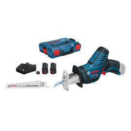 Scie sabre sans-fil Bosch GSA 12V-14 12 V + 2 batteries 2.0 Ah + chargeur + coffret L-Boxx pas cher Principale M