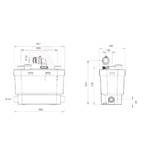 Pompe de relevage SFA Sanispeed+ photo du produit Secondaire 1 L