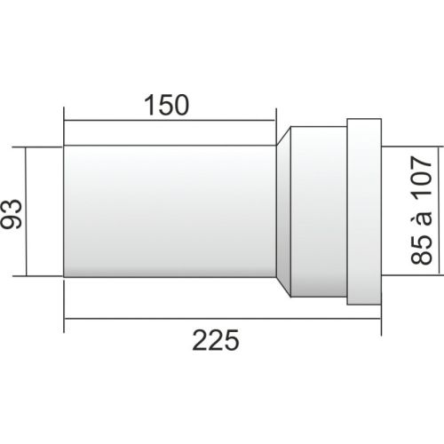 Pipes courtes droites REGIPLAST photo du produit Secondaire 2 L