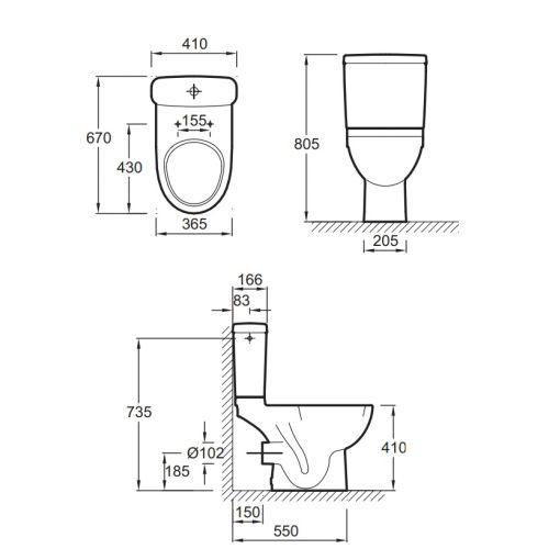 Pack WC complet Jacob Delafon Odéon Up photo du produit Secondaire 1 L